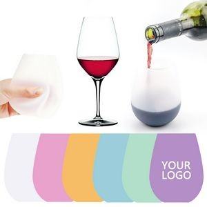 Out door Funny Unbreakable Silicone Wine Cups 12 OZ